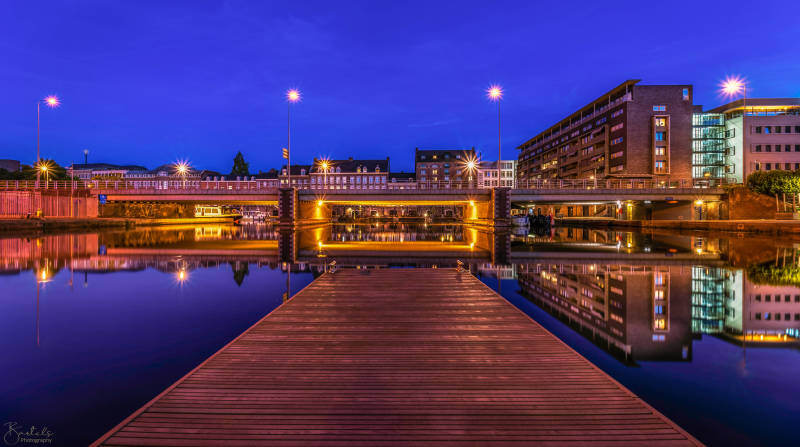 Maastricht Bassin Canvas Color 2020 (Blue Hour)