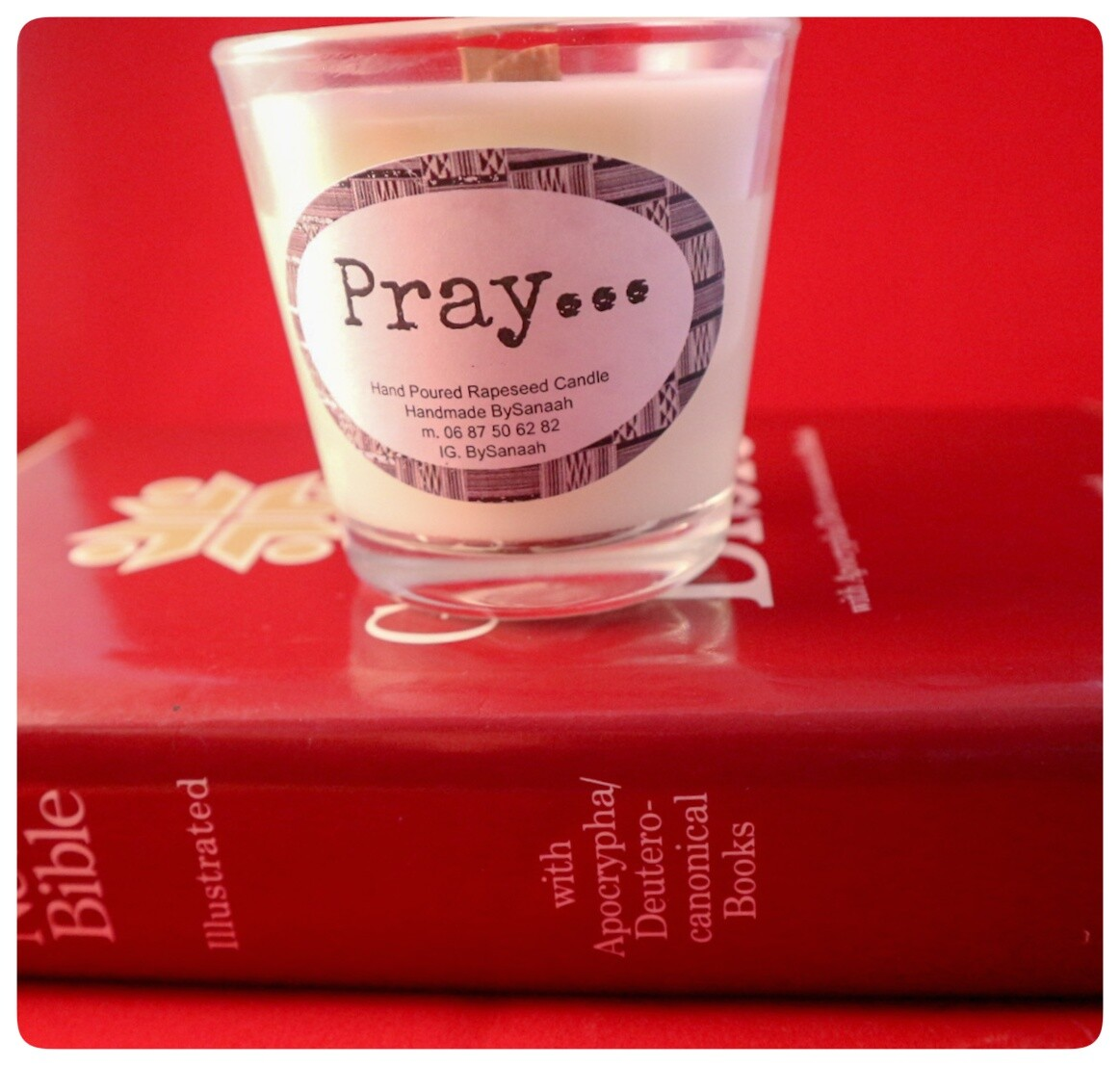 Pray Rapeseed Incense Candle