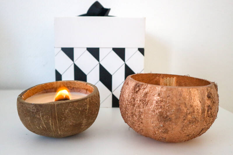 Coconut Love candle twin gift set