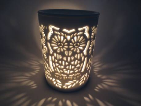 OIL BURNER WHITE WITH OWL