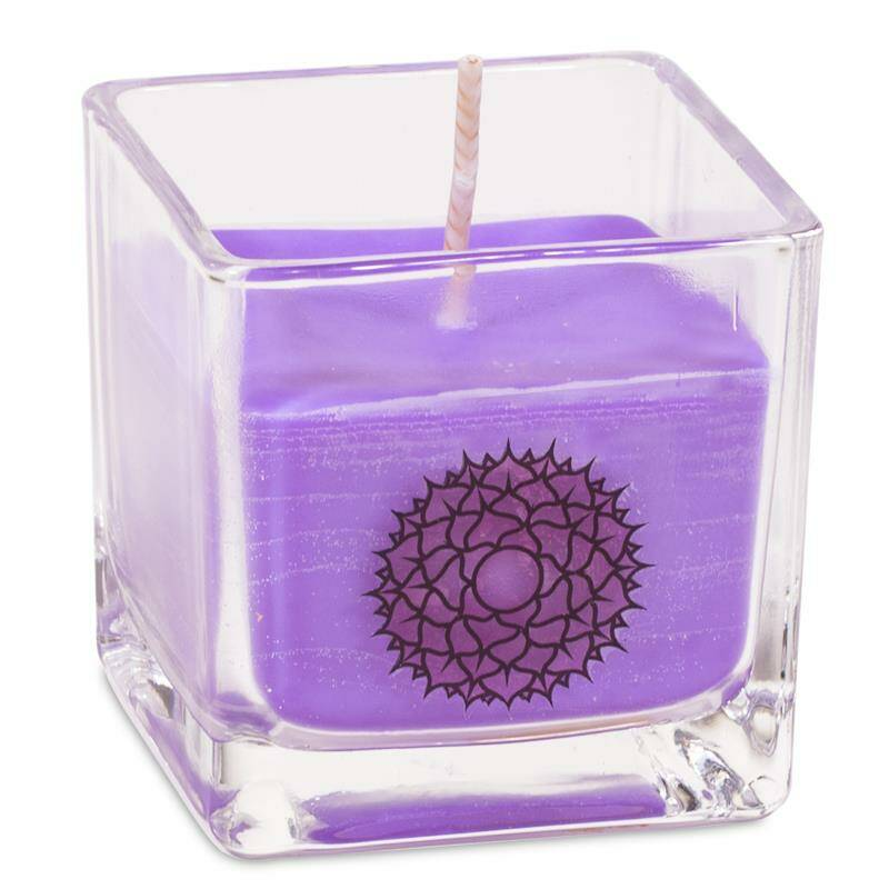 Rapeseed wax scented candle 7th chakra