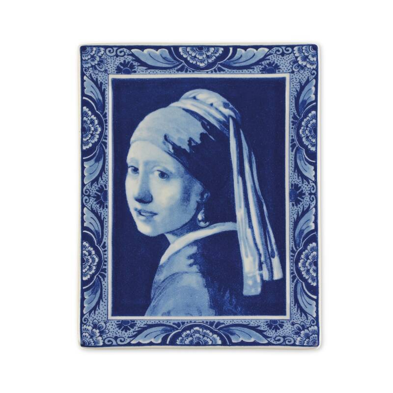 Delft blue plate Girl with the pearl earring