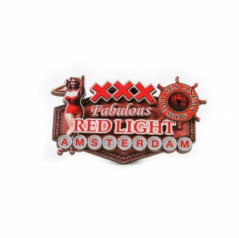 Red Light pin up magnet