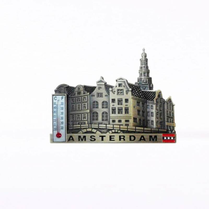 Amsterdam bronze thermometer magnet