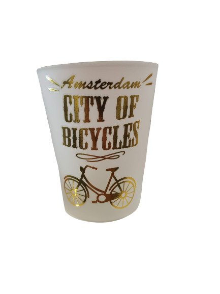 Shotglass city of bicycles gold