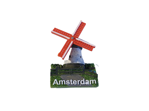 Magnet orange windmill