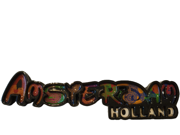 Magnet Amsterdam letters colorfull