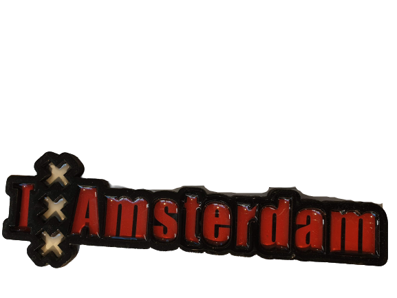 Magnet letters Amsterdam XXX red