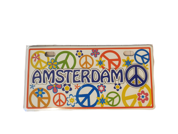 Magnet licenseplate Amsterdam peace