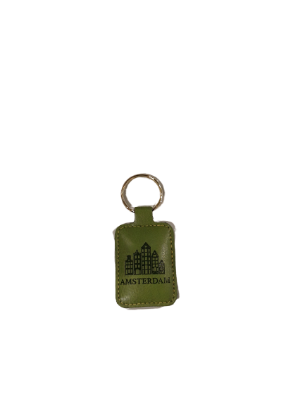Eco leather keychain square