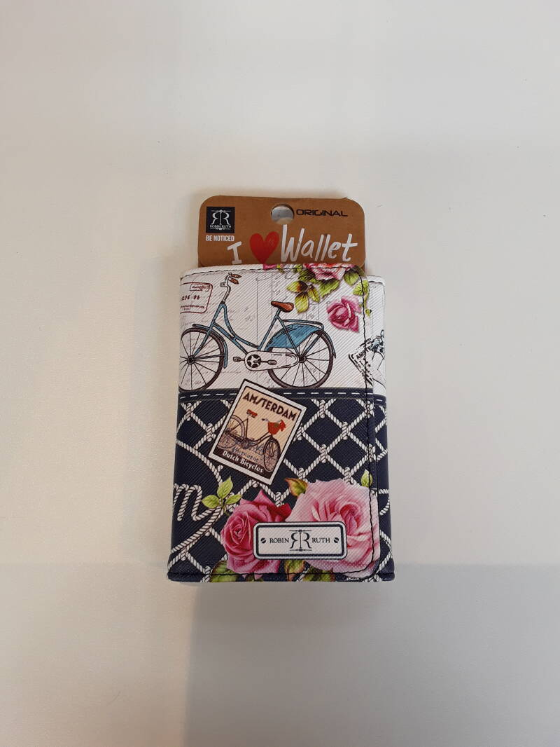 Wallet Amsterdam Bike and Flower