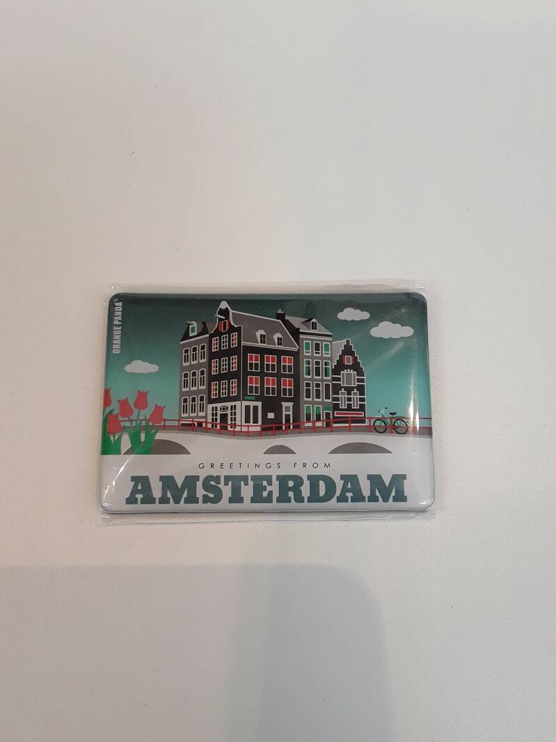 Magnet Amsterdam tulips and houses