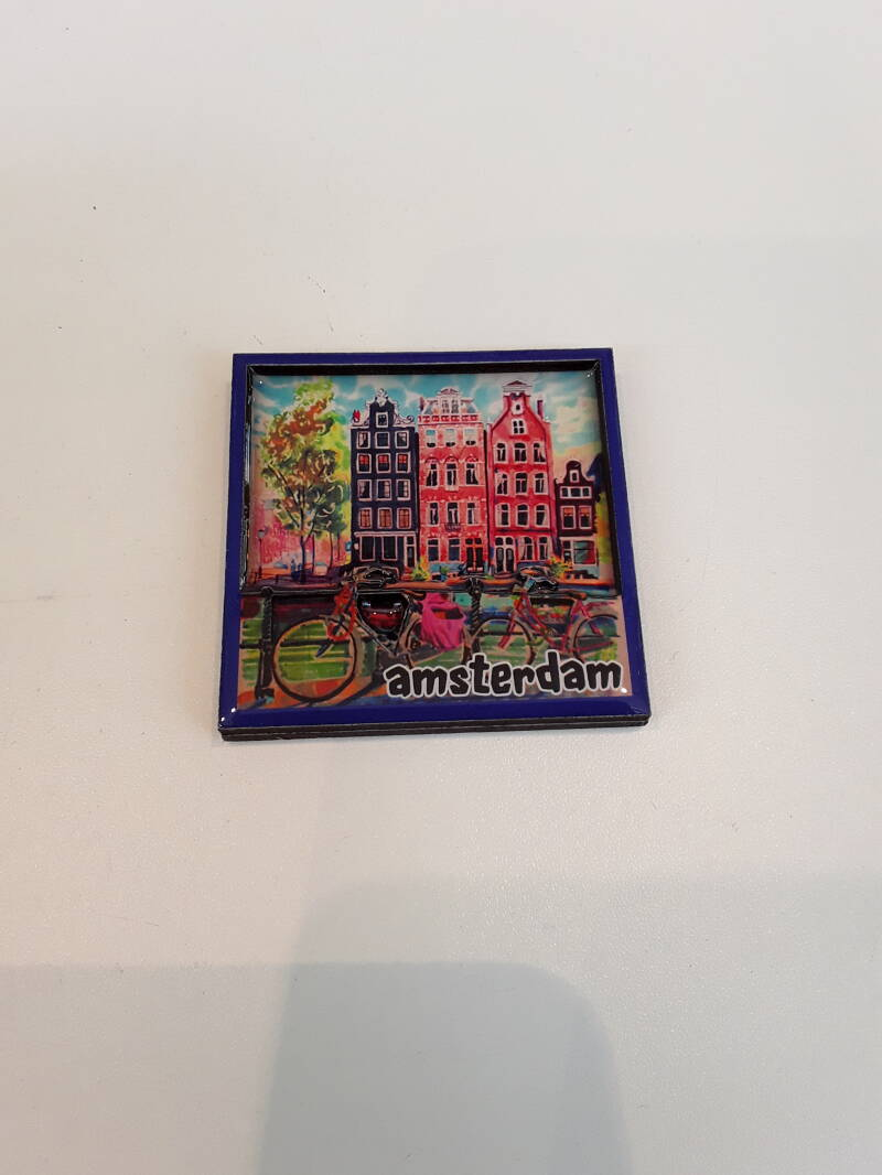 Magnet Amsterdam canal painting