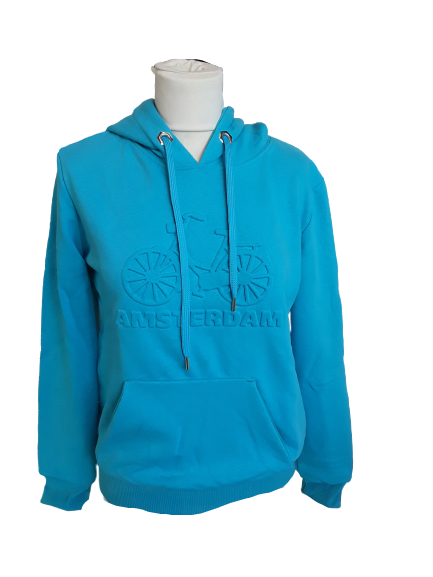 Blue Bike Hooded sweater