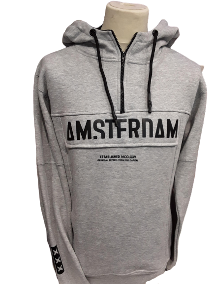 Amsterdam grey Hooded sweater