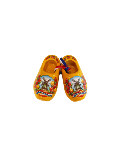 Wooden shoes 6 cm yellow