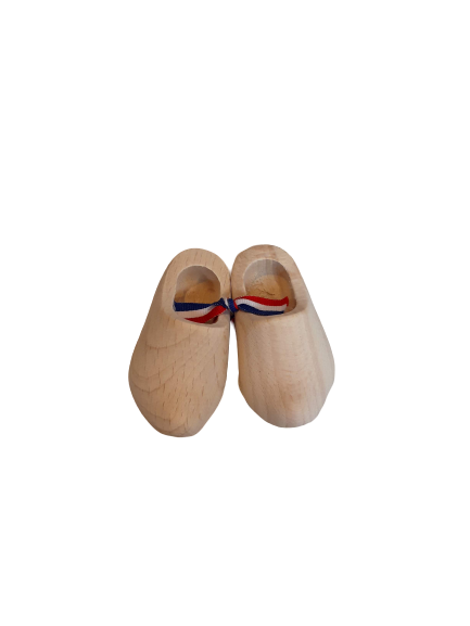 Wooden shoes 8 cm sanded