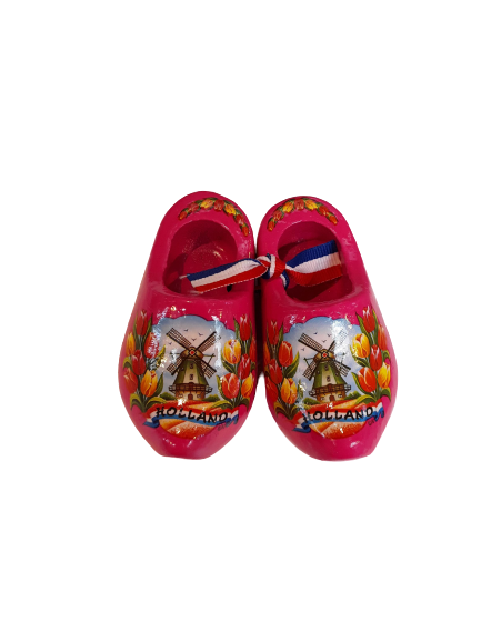 Wooden shoes 8 cm pink