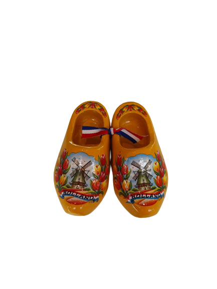 Wooden shoes 10 cm yellow