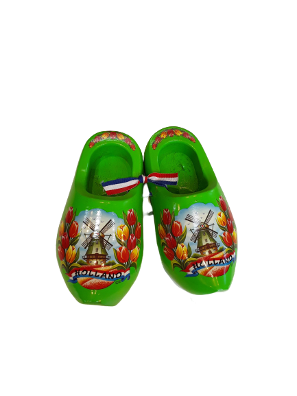 Wooden shoes 14cm lime