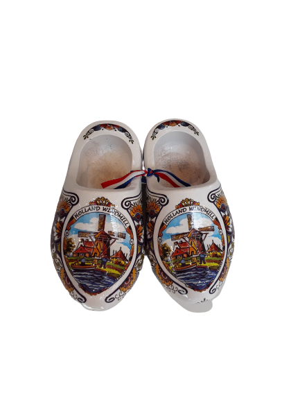 Wooden shoes 14cm poly colorfull