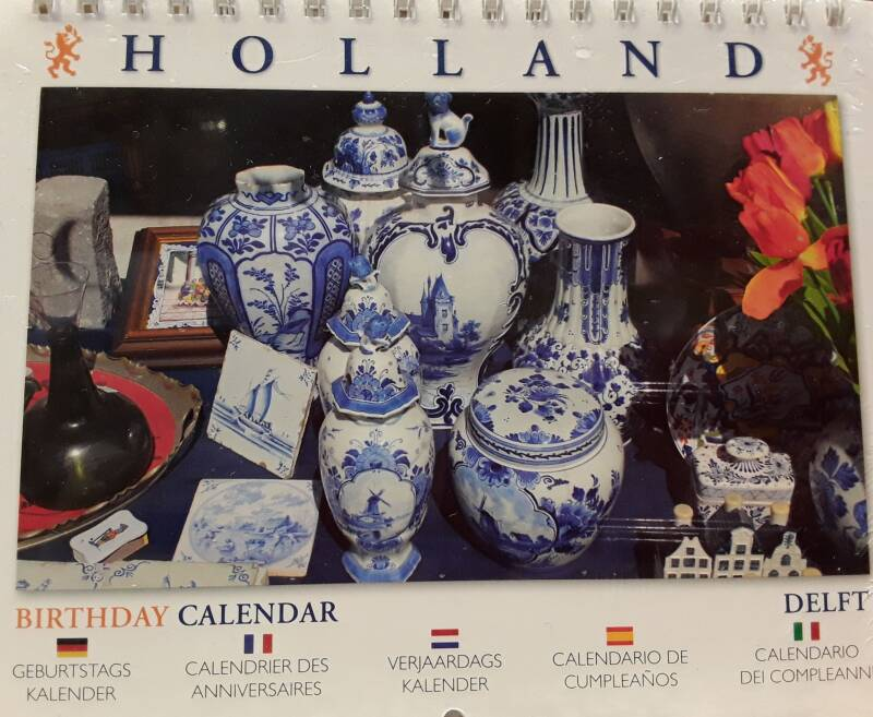 Birthday calendar Holland