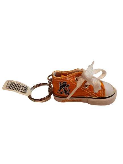Orange lion shoe keychain