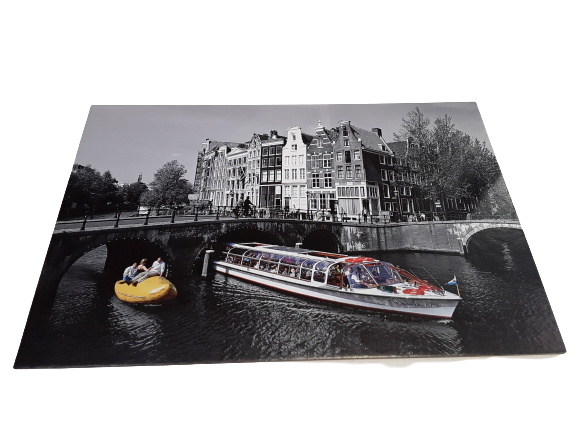 Amsterdam Canal Black background