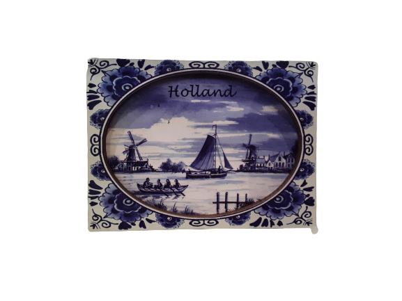 Boats wooden magnet