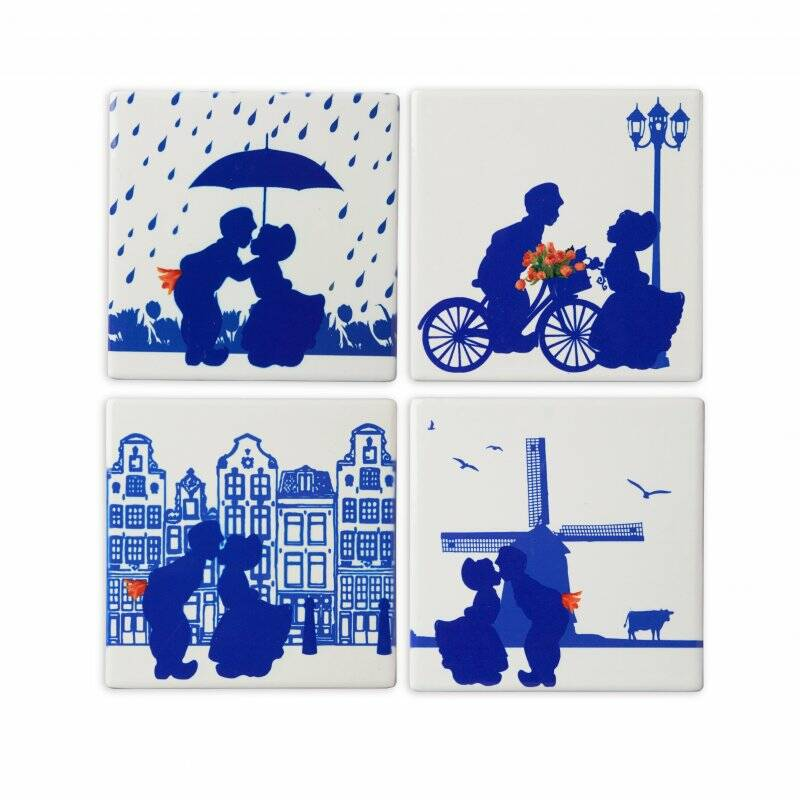 Coaster kissing couple- 4pack