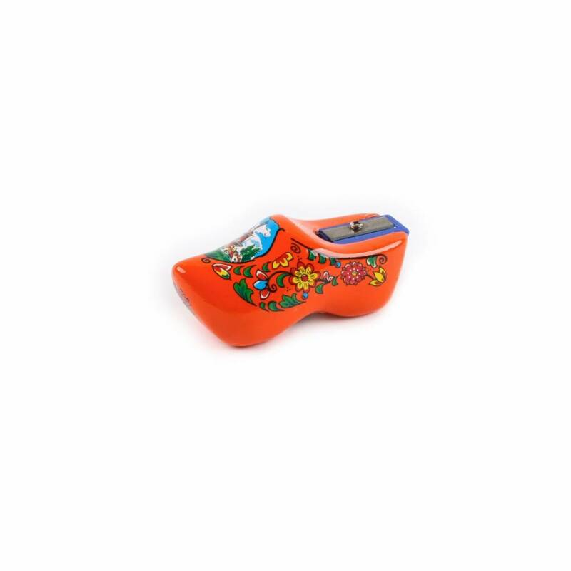 Pencil sharpener clog orange