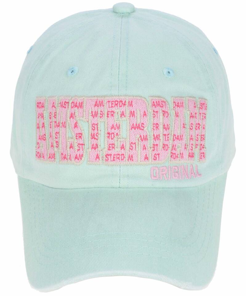 Cap Amsterdam pink letters