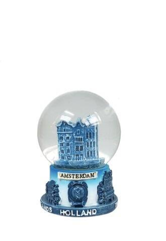 Snowglobe canal houses delft blue - 2 sizes