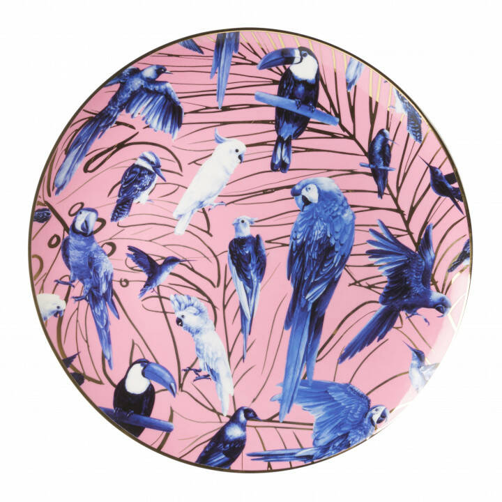 Plate: Tropical birds