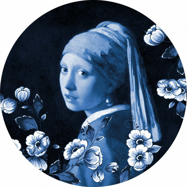 Wall Circle Girl with a Pearl earring