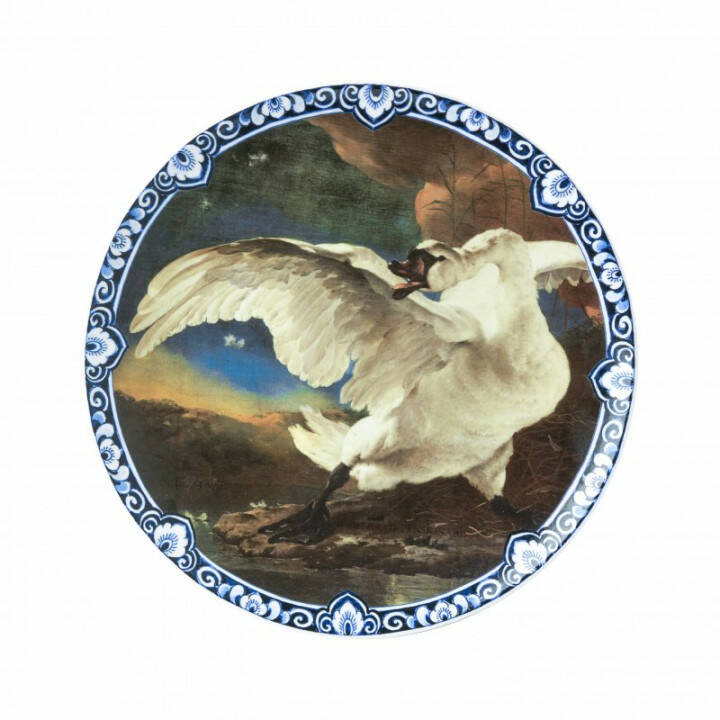 Plate: The Threatened Swan
