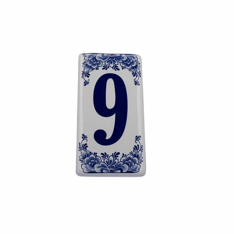 House number sign 9