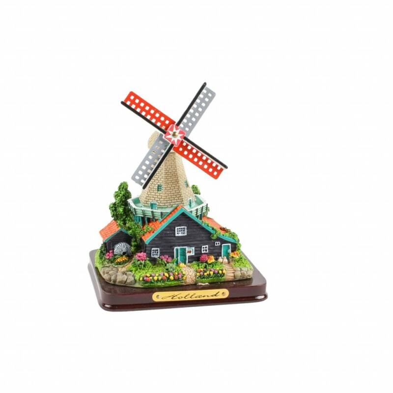 Polystone windmill- Black and Grey