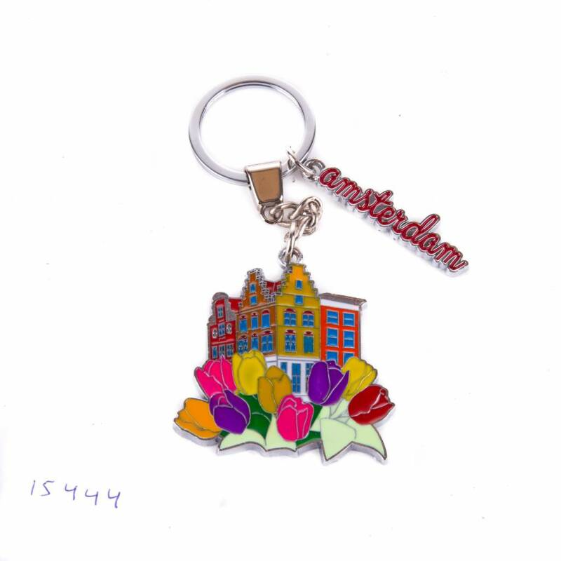 Keychain colorfull houses