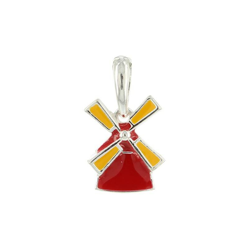 Red Windmill pendant