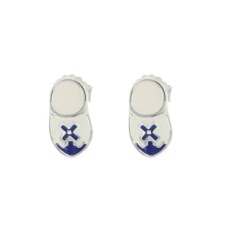 Delft Blue Wooden Shoes earrings