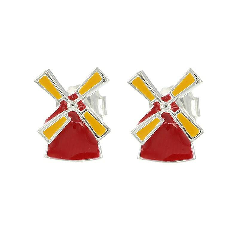 Red Windmills earrings