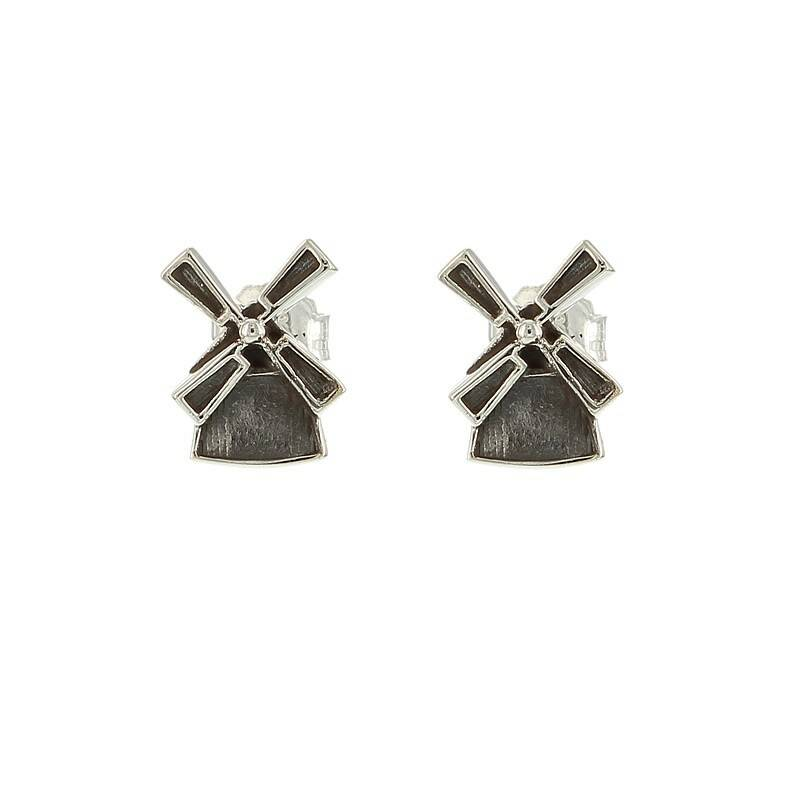 Silver Windmills earrings