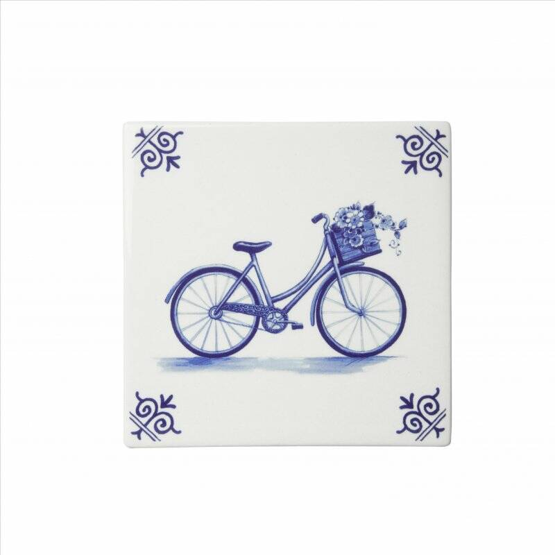 Delft blue tile bicycle