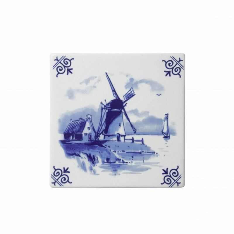 Delft blue tile windmill