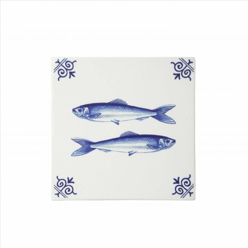 Delft blue tile fish