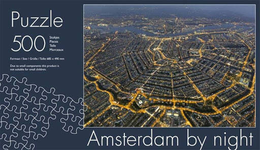 Amsterdam by night Puzzle