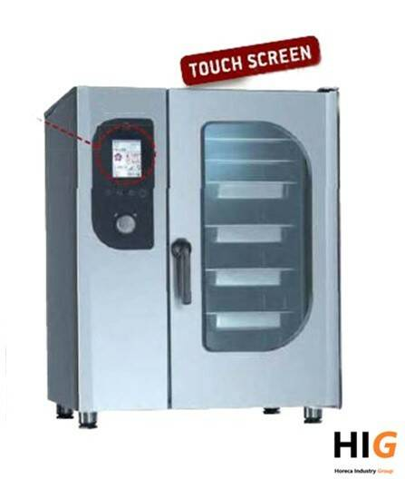 Steamer oven opzet - 10xGN2/1 of 20xGN1/1 Touch screen - GAS/ELEK/1V - 204168T