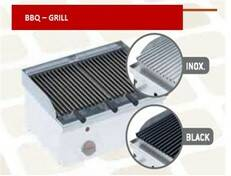 Grill 400mm voor Lava-grills-rooster  - Inox - 447101PX