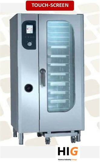 Steamer oven opzet - 10xGN1/1 - Touch screen - GAS/ELEK 230/1V - 204166T